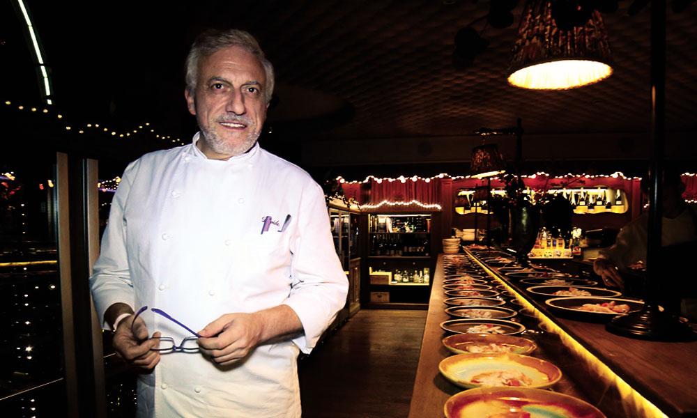 Давиде Скабин в ресторане White Rabbit
